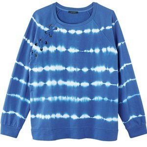 Blue Tie Dye Sweatshirt XL